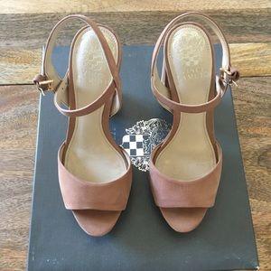 Vince Camuto Krysta Taupe Platform Sandal Size 5